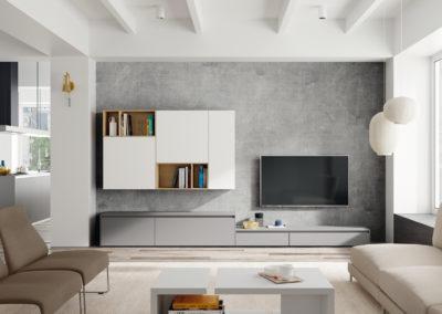 Salones: Muebles de salón, módulos TV, aparadores y vitrinas, mesas y sillas comedor, mesas de centro y auxiliares, estanterías, iluminación.