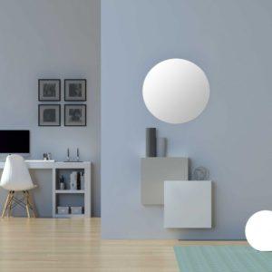 Mueble entrada minimalista cubos